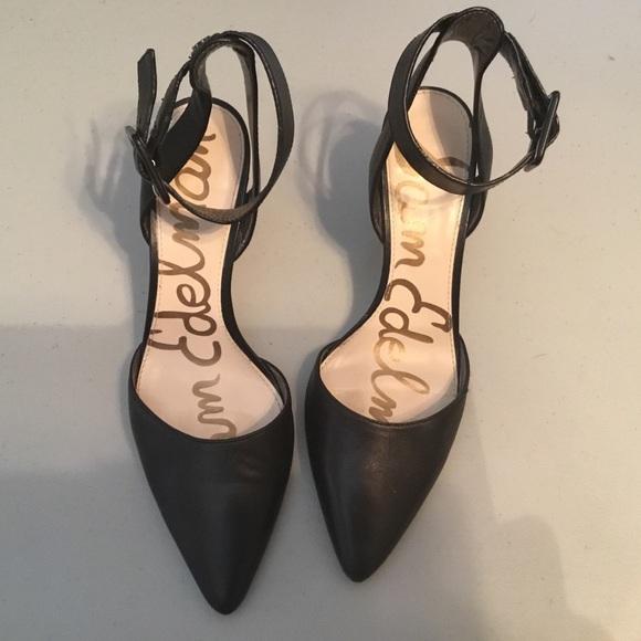 1f54363e08fd2a Sam Edelman Okala Leather Heels. M 5c75969f61974546b6865e89